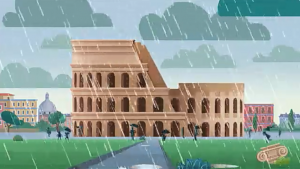 MeteoHeroes Colosseo piogge acide