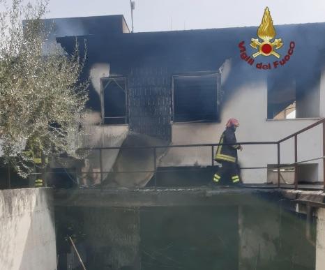 L'incendio a Valle Fiorita
